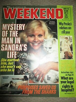Rare Vintage 1978 Sandra Dickinson UK Weekend Magazine Cover Clippings