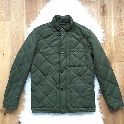 J Crew Sussex Quilted Thermal Insulated Men Jacket Sz S Olive Green Coat NEW
