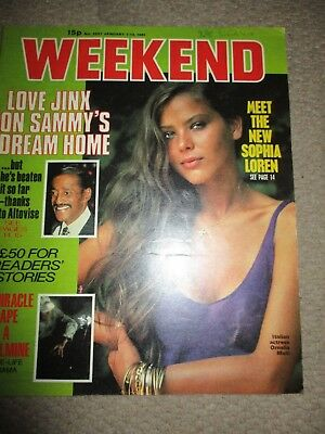 Rare Vintage 1981 Ornella Muti UK Weekend Magazine Cover Clippings