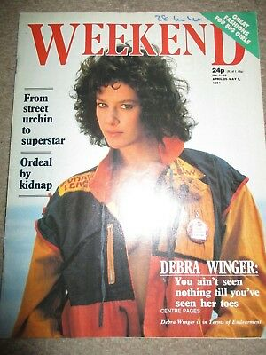 Rare Vintage 1984 Debra Winger UK Weekend Magazine Cover Clippings