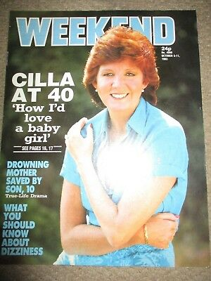 Rare Vintage 1983 Cilla Black Weekend Magazine Cover Clippings