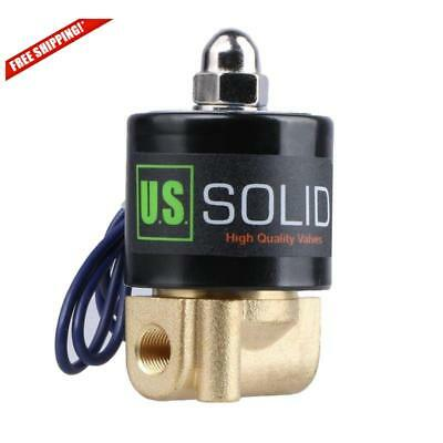 "1/8"" Brass Electric Solenoid Valve 12V Dc Normally Closed Nbr"