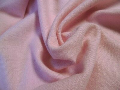 "BACK IN STOCK!  WOOL FLANNEL~LT. WEIGHT~BABY PINK~DOLL FABRIC ~12""x30"""