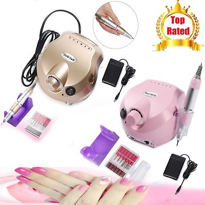 Electric Manicure Pedicure Grooming Beauty Nail Art File Tool Kit Drill Machine