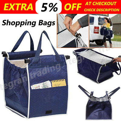 AU Foldable Insulated Thermal Shopping Bags Reusable Grocery Cart Trolley Bags
