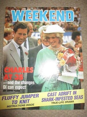 Vintage 1983 UK Prince Charles Princess Diana Weekend Magazine Cover Clippings