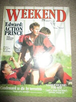 Vintage Rare 1984 UK Prince Edward Weekend Magazine Cover Clippings