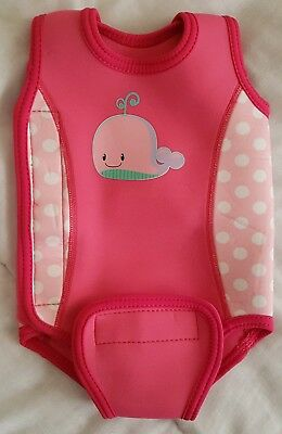 Baby Girls Wetsuit - 3-6 Months - Swimming Body Warmer - Pink - Swim Suit