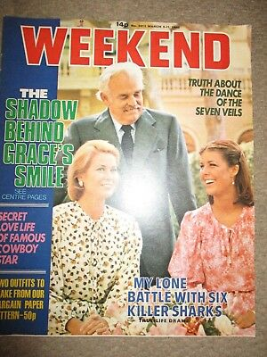 Vintage 1980 Princess Grace Kelly Of Monaco UK Weekend Magazine Cover Clippings