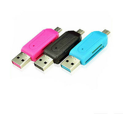 Generation Updated Card Reader Smart Phone Card USB 2.0 Micro USB OTG Adapter