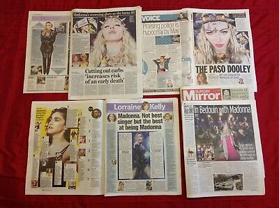 Madonna Secrets of 60th Birthday Party & More UK Newspaper Clippings Cuttings