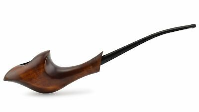 """NEW Wooden Tobacco Smoking Pipe """"Orchid"""", Pear wood, Non-filter ~ 7-7/8"""""""