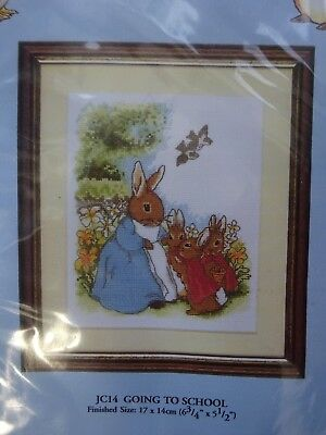 "The World Of Beatrix Potter Counted Cross Stitch Kit - ""Going To School"" JC14"