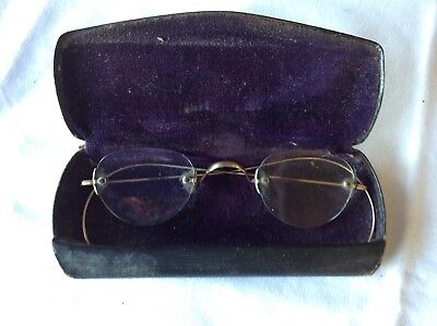 Antique Spectacles in owner's original case – N BASCH Warwick Qld