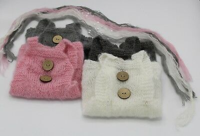 Mohair Stirnband Baby Fotoshooting Farben Haarband Wolle Perle Foto Props