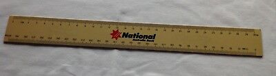 Vintage Plastic Ruler Advertising National Australia Bank 30cms Metric-Cream