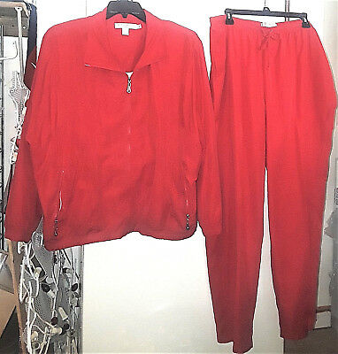 Napa Valley-Women's Plus Size Red 2 Piece Track Suit-New/never Worn-Size-2X