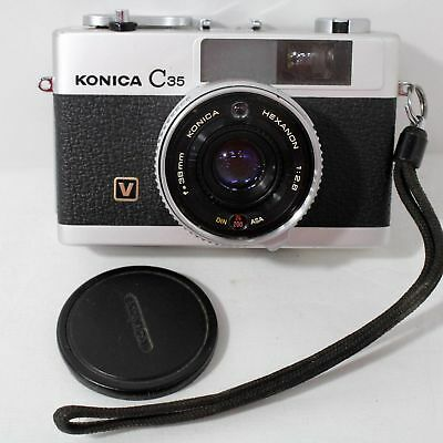 Konica C35 1960s vintage camera with lens Hexanon 1: 2.8, f=38mm #415