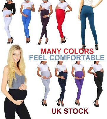 Thick Comfortable Maternity Cotton Leggings Full Ankle Length PREGNANCY*Mtrlgs