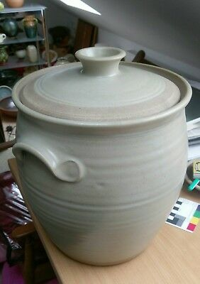 Large Russell Collins Hook Norton Studio Art Pottery Bread Crock. Leach interest