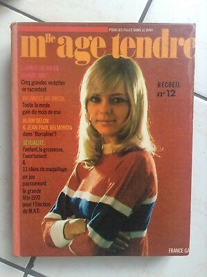 RARE A CE PRIX Recueil Reliure Mademoiselle Age Tendre  N° 12 BE