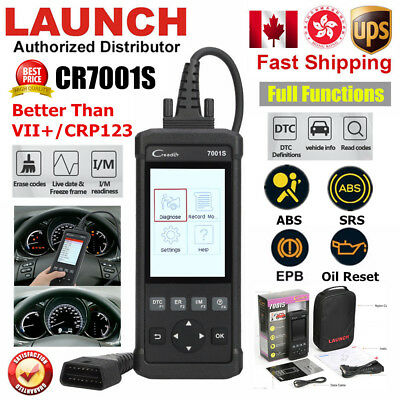 Launch CR7001S OBD2 Car CodeReader Scanner Tool ABS SRS Oil Reset As VII+ CRP129