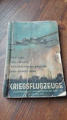 WW2 German manual book for recognizing war plane