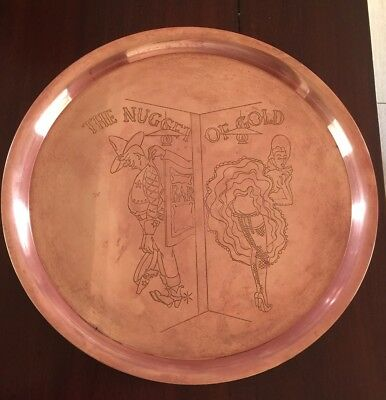 Vintage Copper Art Plate, Tray , Wall Hanging