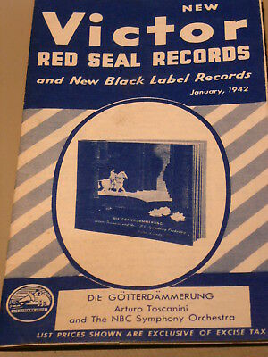 Vintage January 1942 RCA Victor Red Seal Records Brochure Catalog