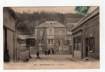 CPA 60 - Mortefontaine ( Oise ) - la mairie , animation