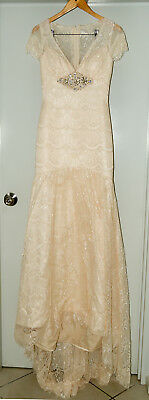 Unbranded, lace Wedding dress in ivory, size 8