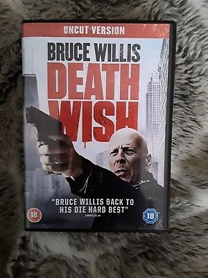 Death Wish dvd newest out 2018 with Bruce Willis