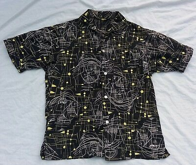 Genuine vintage 1950s men's rockabilly beatnik casual shirt