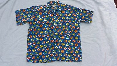 Genuine vintage 1950s men's rockabilly casual beach shirt small