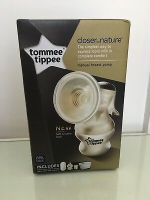 New Tommee Tippee Closer Nature Manual Breast Pump Bottle Kit BPA Free