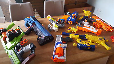 Nerf guns and others - job lot for sale, various including attachments
