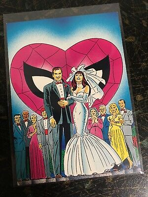 1992 Spider-Man 30Th Anniversary Trading Card 74 Marriage Mary Jane Comic Images