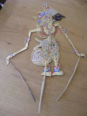 LARGE VINTAGE INDONESIAN SHADOW PUPPET - 70 cm
