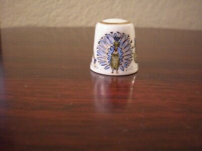 Reutter Germany Thimble with Peacocks