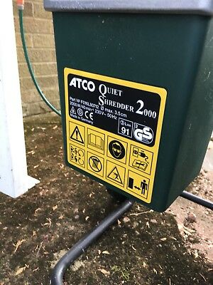 Atco Garden Shredder QC Shred Quiet 2000