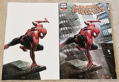 Amazing Spider-Man 1 Lgy 802 V5 Clayton Crain Virgin White Variant Set Villain!