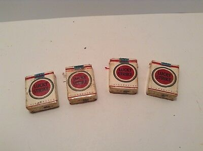 Vintage Lucky Strikes Cigarettes Four (4) Packs with Seals