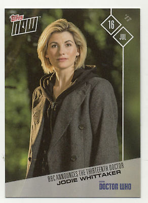 Doctor Who Jodie Whittaker Topps Now #1 July 16 2017 Collectible Trading Card