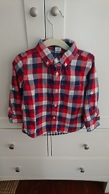 Age 2 baby GAP boy's check shirt