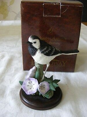 """Country Artists  01313  """"Wagtail with Geraniums""""   by Keith Sherwin - Boxed"""