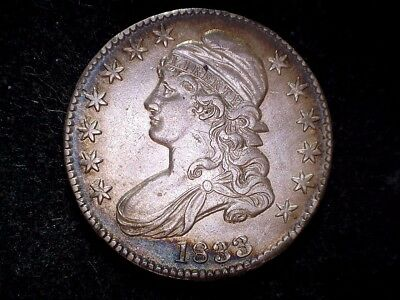 1833 50C Capped Bust Half Dollar, O-101, circulated, business strike