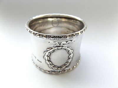 Beautiful Antique G. M. Co Birmingham Sterling Silver Napkin Ring 1914.