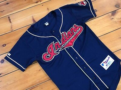 Vintage Cleveland Indians Jersey Russel Athletic Authentic Collection The Tribe