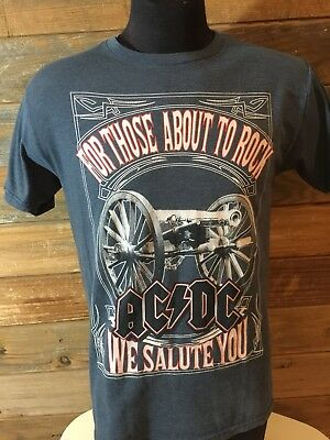 AC/DC For Thise About To Rock T-shirt Mens Medium Angus Young