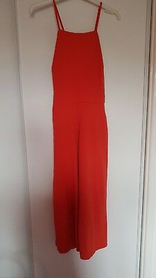 New Look Culotte Jumpsuit Orange Size 10